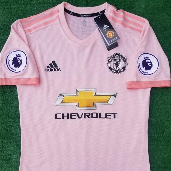 24331da56 18 19 Manchester United away soccer jersey Pogba